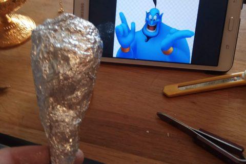 Le génie de la lampe Aladdin